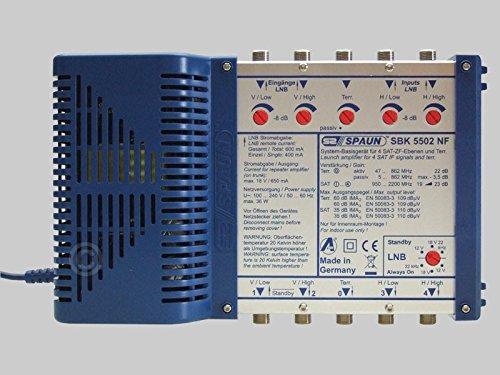 Spaun SBK 5502 NF Kaskadierbare Systembasisgerät (1 Sat System mit 4X Sat IF Power Signals)