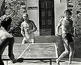 bucraft Paul Newman Robert Redford Play PING Pong in Durango Mexico 8X10 Photo (BB-973)