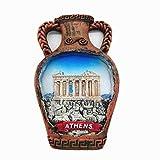 Imán de nevera 3D de Atenas Grecia Souvenir, decoración para el hogar y la cocina, pegatina magnética de Atenas, Grecia, imán de nevera de viaje regalo de recuerdo