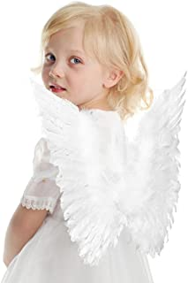 Interlink Angel Feather Wings Costume Party Cosplay Butterfly Style Xmas For Kids White Color