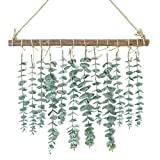 Artificial Eucalyptus Wall Hanging Decor-Fake Eucalyptus Leaves Greenery Farmhouse Rustic Wall Hanging for Wedding,Bedroom,Kitchen,Nursery,Party and Bathroom,Boho Home Decorations(Green)