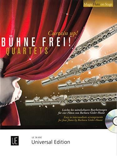 Bühne frei - Quartets: Leichte bis mittelschwere Bearbeitungen. für 4 Flöten mit CD. Partitur und Stimmen. (Magic Flute on Stage)