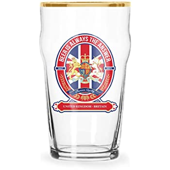NEWCASTLE BROWN ALE PINT BEER GLASSES SET OF FOUR UNITED KINGDOM BREWERY