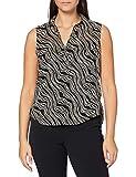 Tom Tailor Classic Blusas, 23355/Diseño Ondulado Negro, 42 para Mujer