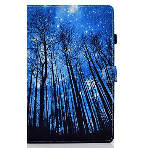 zl one Compatible con/reemplazo para Tablet PC Samsung Galaxy Tab A 2019 10.1 SM-T510/T515 PU cuero Flip Cover Stand Magnetic Wallet Case (árbol)