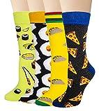 Chalier Herren Bunte Lustige Socken,Fun Gemusterte Muster Socken, Verrückte Socken Modische Mehrfarbig Klassisch als Geschenk, Neuheit Crew Socken