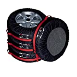 タイヤカバー タイヤバッグ 軽自動車に適しています タイヤ収納 屋外 タイヤトート ホイール カバー 12インチ〜15インチ対応 (S-直径63cm, シルバー)