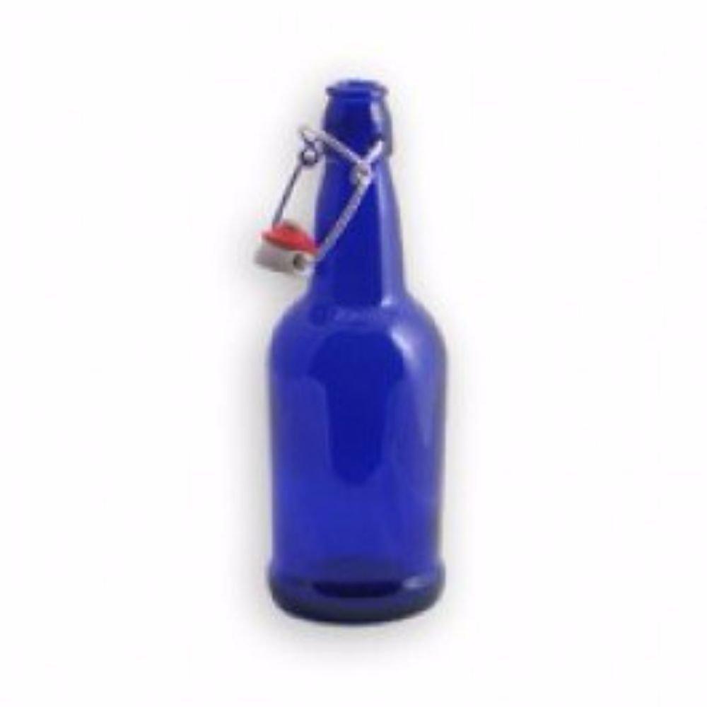 Strange Brew 500 ml 16 oz. Ranking TOP17 In stock Blue G Bottle Glass Flipper Cobalt