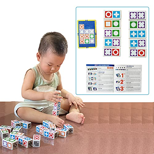 LU Store Matching Game Puzzle Board Game Kit Wooden Toys Educational Logical Thinking Match Board...