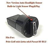 Interrupteur de vitre côté conducteur BODENLA intégré Capteur de lumière Automatique PHARES Leaving Home Coming Home for VW Polo 9N 6R Golf 4 Jetta MK4 Fit for Passat B5 B5.5
