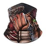 AEMAPE Att-ACK-On-Titan Cubierta Facial Escudo Calentador de Cuello Bufanda para el Cuello Banda para la Cabeza Multifuncional Pañuelo para la Cabeza Pasamontañas Protectores bucales Transpirable -R1