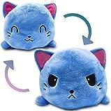 Muñeco de perro zorro gato abatible de doble cara suave, pulpo feliz/triste muñeco de peluche reversible regalo para niños pulpo reversible (gato)