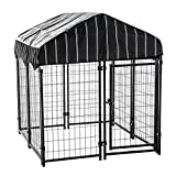 Lucky Dog 4'6'H x 4'L x 4'W Heavy Duty Covered Welded Wire Dog Fence Pet Kennel