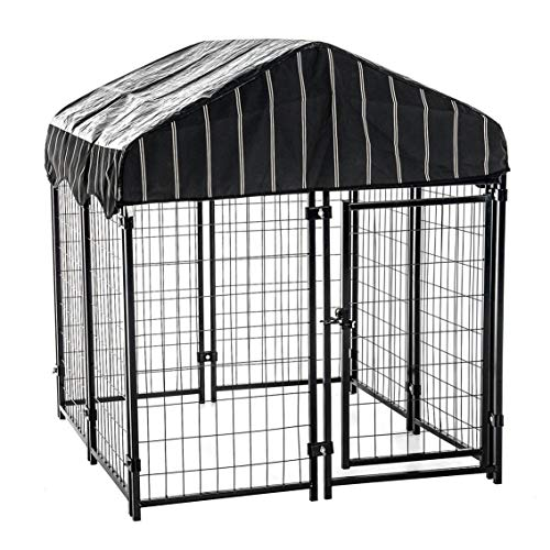 Lucky Dog 4'6'H x 4'L x 4'W Heavy Duty Covered Welded Wire Dog...