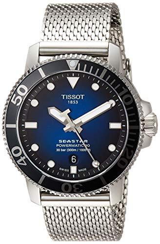 Tissot orologio uomo Seastar 1000 Powermatic 80 BLU 43mm Acciaio automatico T120.407.11.041.02