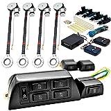 Biltek 4x Door Car Power Window + Keyless Door Unlock Kit For Chevy Camaro Van Cavalier Chevette Cobalt Kodiak