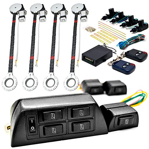 Biltek 4x Door Car Power Window + Keyless Door Unlock Kit Compatible with Dodge Caliber Challenger Charger Dakota Dart