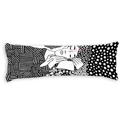 Throw Pillow Cases Body Pillow Covers Body Pillowcases With Zipper Closure For Home Decor 20 X 59 Inch,Gustav Klimt The Kiss