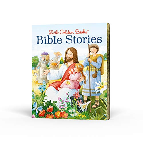 Little Golden Books Bible Stories Boxed Set: The Story of Jesus; Bible Stories of Boys and Girls; The Story of Easter; David and Goliath; Miracles of Jesus
