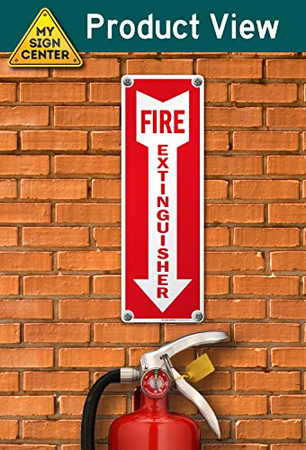 Fire Extinguisher with Arrow Down Fire and Safety Sign - 4
