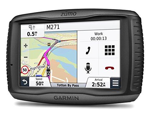 Garmin-zumo-590LM-EU-Motorradnavigationsgeraet-lebenslange-Kartenupdates-Musiksteuerung-127cm-5-Zoll-Touchscreen-Generalueberholt