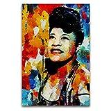 WPQL Ella Fitzgerald Leinwand-Kunst-Poster, Kunstdruck auf