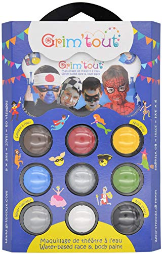 Grimtout - GT41211 - Palette de maquillage pour Super Héros Spiderman, Batman and Co