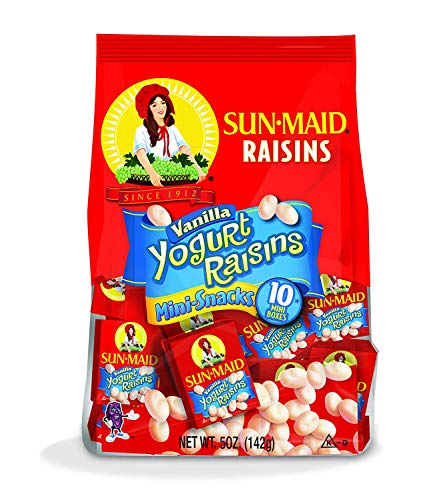 Sun-Maid Yogurt Raisins 0.5 OZ (Vanilla, Pack - 2)