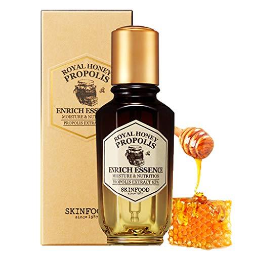 SKINFOOD Royal Honey Propolis Enrich Essence 1.69 fl.oz.(50 ml) - 63% di propoli di ape nera e estratto di pappa reale contenente una potente essenza nutriente per il viso