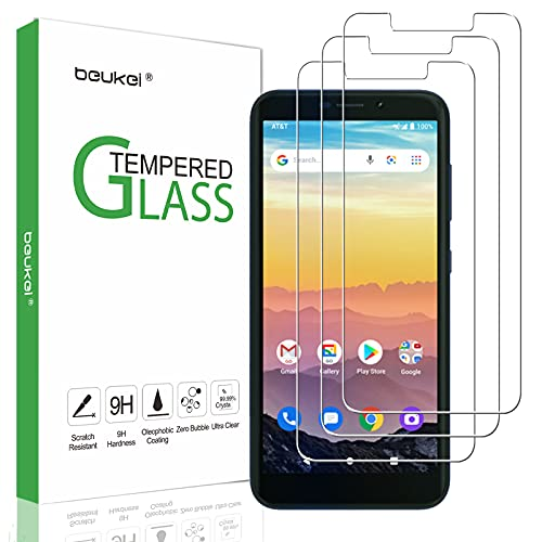 (3 Pack) Beukei Compatible for ATT Calypso (U318AA) Screen Protector Tempered Glass, Touch Sensitive,Case Friendly, 9H Hardness