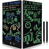 Tableta de Escritura LCD con Doble Pantalla Completa, 11.5 Pulgadas, Pizarra Electrónica, Jueguete y Regalo Infantíl para Niño, Memo y Borrador en Casa y Oficina (Negro)