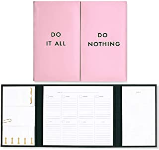 $32 » Kate Spade New York Pink/Green Professional Desktop Folio with Undated Weekly Planner Pad, Sticky Notes, and Notepad, Do I...