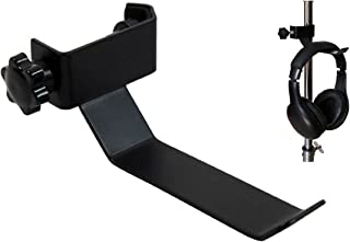 CellCase Black Headphone Headset Tambourine Holder Hanger Clip Stand for Microphone/Musical Stand