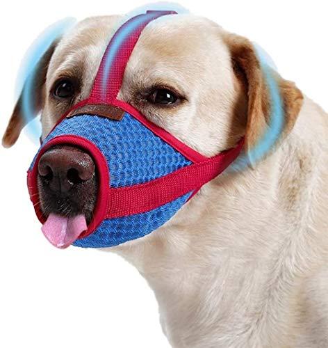 TFMus Atmungsaktiver Rindenstopper Anti-Bellen Anti-Biss Anti-Fress-Maulkorb Hund Mund Abdeckung Entenschnabel-Abdeckung ist weich und bequem, um Hunde vom Lecken zu verhindern