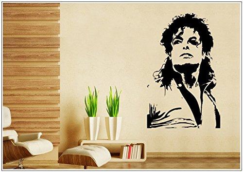 Deco-idea Wandtattoo wandaufkleber wandsticker Photo Porträt Michael Jackson tanzen wph042(Printed Sticker,ca.15 x 6cm)