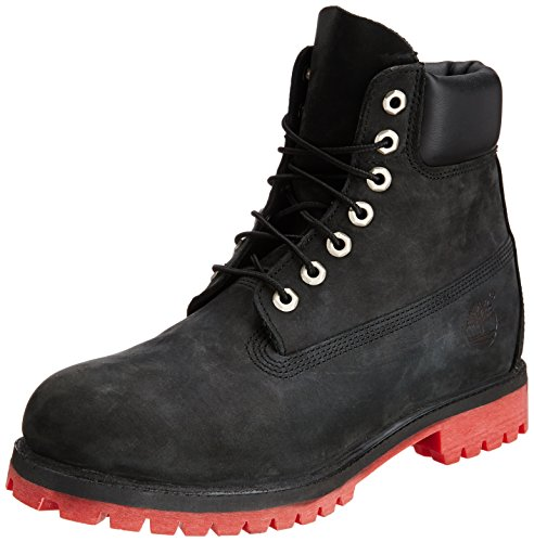 """Timberland Men's 6"""" Premium - Helcor? Leather Black Relief Helcor? Leather Boot 11.5 D (M)"""