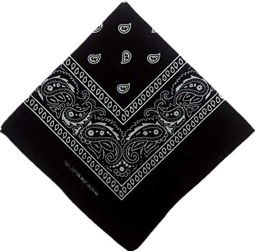 Bandana Haaraccessoire voor dames, linnen, bandana, sjaal, vierkant, bandanas, hoed, rok, cool, meisjes, multilinten (6 stuks) Stely C
