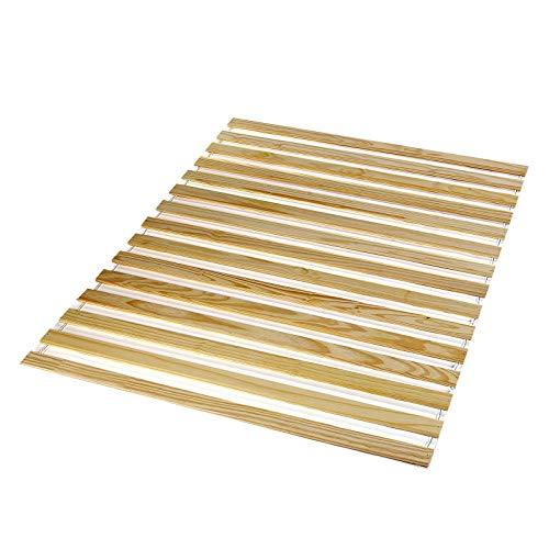 IDIMEX Sommier en pin Massif 15 Lattes sans Cadre Couchage 140 x 200 cm