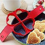 Strumento per Pancake con Uova Fritte Rotonde/Cuore multifunzionali in Silicone con frittata Cantinette Vino (Cuore)