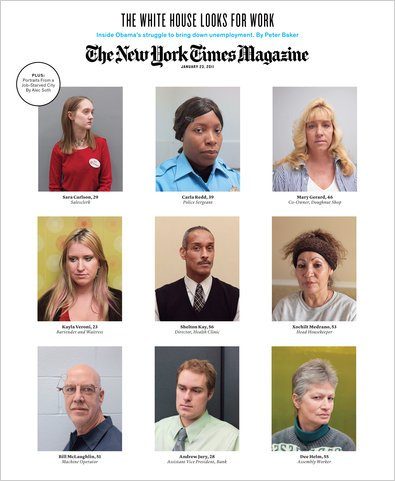 The New York Times Magazine, January 23, 2011 - The White House Looks for Work by Peter Baker (Inside Obama's struggle to bring down unemployment)