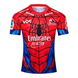 Mempire Maillot de Rugby pour Homme 2019 Lions Rugby Jersey,2020 Super Hero Edition Rugby T-Shirt for Men Vêtements de Sport en Plein Air (A,M)