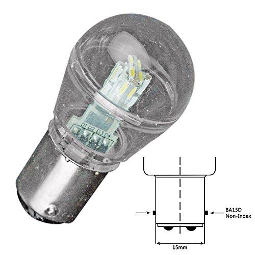Best Deals! Lunasea Bayonet LED Bulb BA15D - 10-30VDC/1W/105 Lumens - Cool White