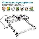 TOPQSC 7000MW Kit de máquina de grabado láser CNC, impresora de escritorio de 50x40 cm, impresora de marcado de logotipo, máquina de corte de grabado de talla de madera USB de 12 V