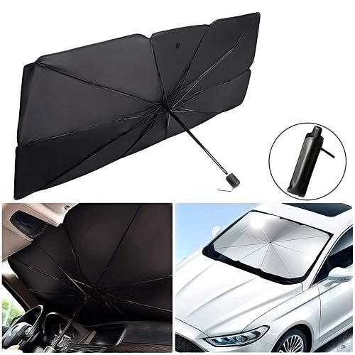 Parabrisas del Coche Sombrilla, Parasol Sombrilla per Coche Lunas Delanteras, Plegable para La Ventana Delantera del AutomóVil Rayos Anti-UV y Calor Protector de Visera Sol Paraguas
