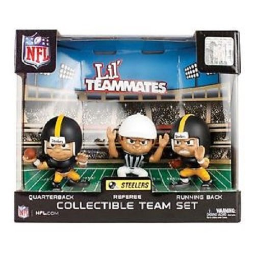 Cheapest Prices! Lil' Teammates 3 Figurine Pittsburgh Steelers NFL Team Set (Pack of 3)