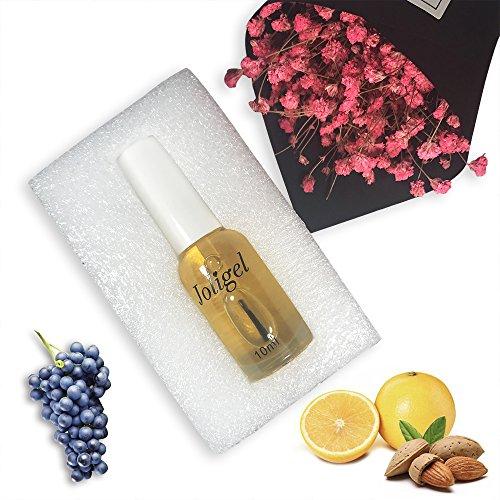 Joligel Aceite Hidratación Cuidado Cutículas Fortalecer Uñas Manicura Pedicura, Aceite Semillas Uvas + Aceite Almendras Dulces + Aceite Naranjas Dulces, Aroma Dulce, 10ML