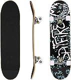 Hikole Skateboard Completo, Pro 31 Pulgadas Monopatín para Adolescentes Principiantes Niñas Niños Adultos, 9 Capas Monopatín de Madera de Arce