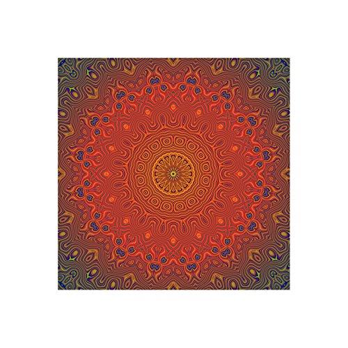 Querfarben InstyleArt - Imagen de mandala de meditación (tamaño XXL, lienzo sin marco, marco de madera, 20 x 20 cm)
