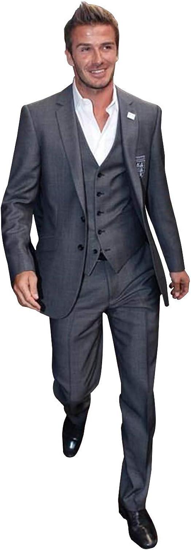 YZHEN Men's Three-Piece Classic Fit Office 2 Button Suit Jacket Vest Pants Set