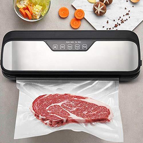 Beste elektrische Vakuumierer Maschine mit 10 Stück Food Saver Taschen des Haushalt Lebensmittel Vakuum-Verpackungsmaschine,12stainlesssteel